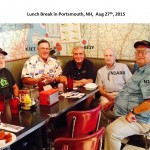 Lunch at Portsmouth NH with several net members August 27, 2015